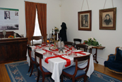 The dining room at the Dickinson House