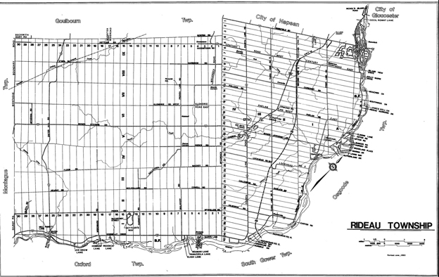 Map of the former Rideau Township