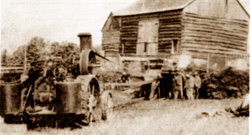An early threshing machine